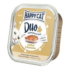 Happy Cat Duo Menu Nauta & Kani 12 x 100 g