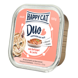 Happy Cat Duo Menu Siipikarja & Lohi 12 x 100 g