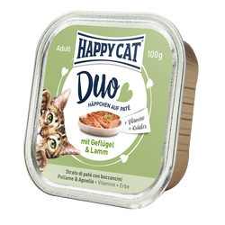Happy Cat Duo Menu Siipikarja & Lammas 12 x 100 g