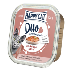 Happy Cat Duo Menu Siipikarja & Nauta 12 x 100 g