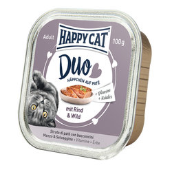 Happy Cat Duo Menu Nauta & Riista 12 x 100 g